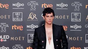 Eduardo Casanova, en los premios Goya 2019.