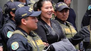 La líder opositora peruana Keiko Fujimori durante una audiencia judicial.