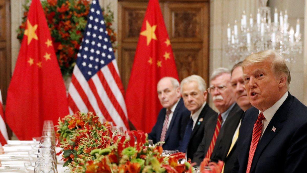 Trump durante un encuentro con la delegación china en el G-20, en Buenos Aires.