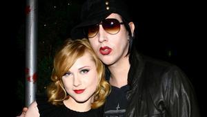 Marilyn Manson y Evan Rachel Wood, fotografiado en el 2007.