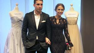 Los actores Miguel Ángel Silvestre y Paula Echevarría durante la presentación de la serie Velvet