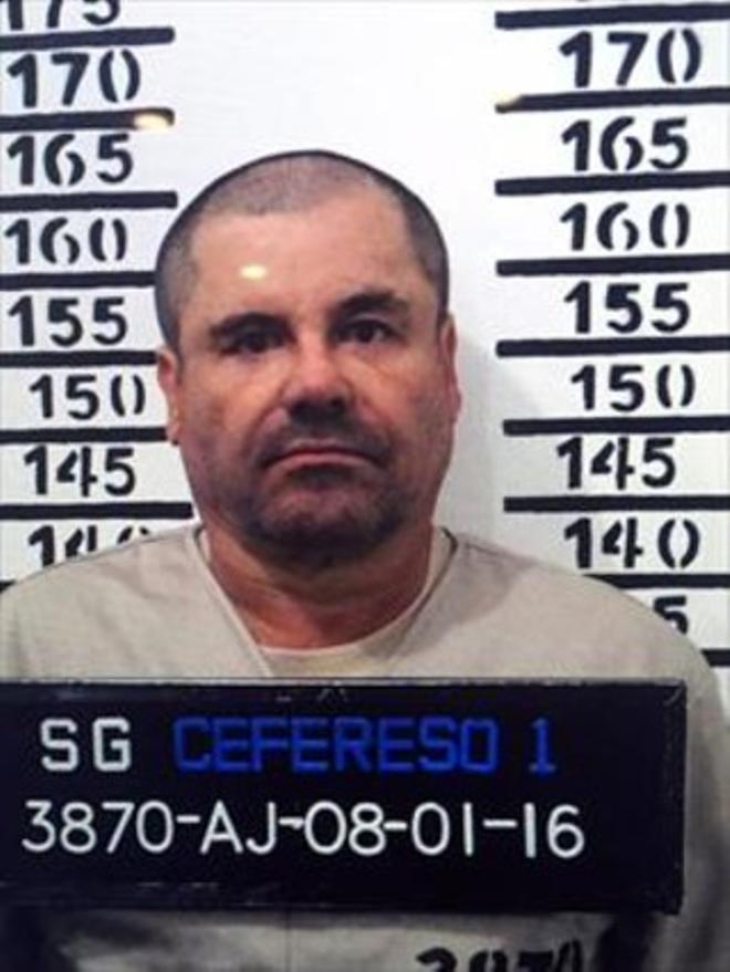Foto policial de Joaquión Gúzman, 'El Chapo', tras su detención.