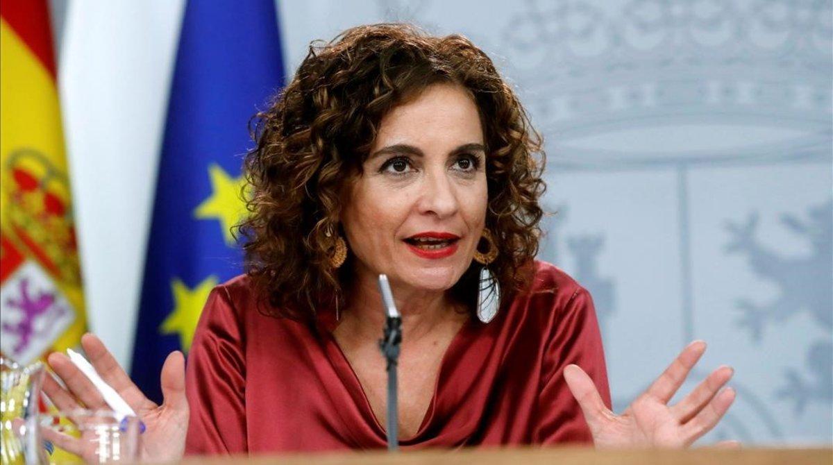 La ministra de Hacienda y portavoz del Ejecutivo, María Jesús Montero.