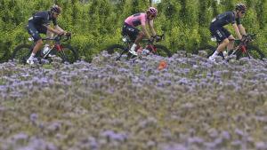 Egan Bernal, durante la 13ª etapa del Giro 2021.