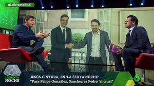 Jesús Cintora con Iñaki López (La Sexta).