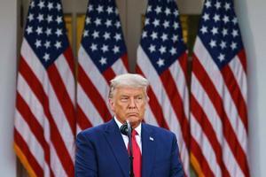 Donald Trump, en su comparecencia sin preguntas en la Casa Blanca, este viernes.