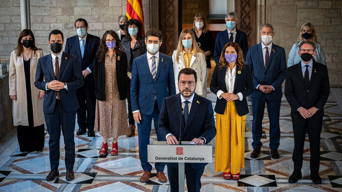 """Aragonès afirma que los indultos """"dan credibilidad"""" a la mesa de negociación"""