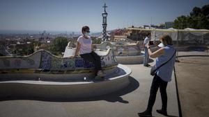 El Parc Güell en una visita para barceloneses el mes pasado