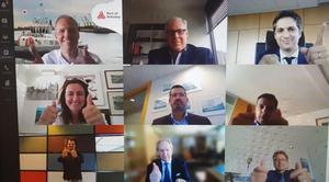 Videoconferencia entre los responsables de los principales puertos internacionales.