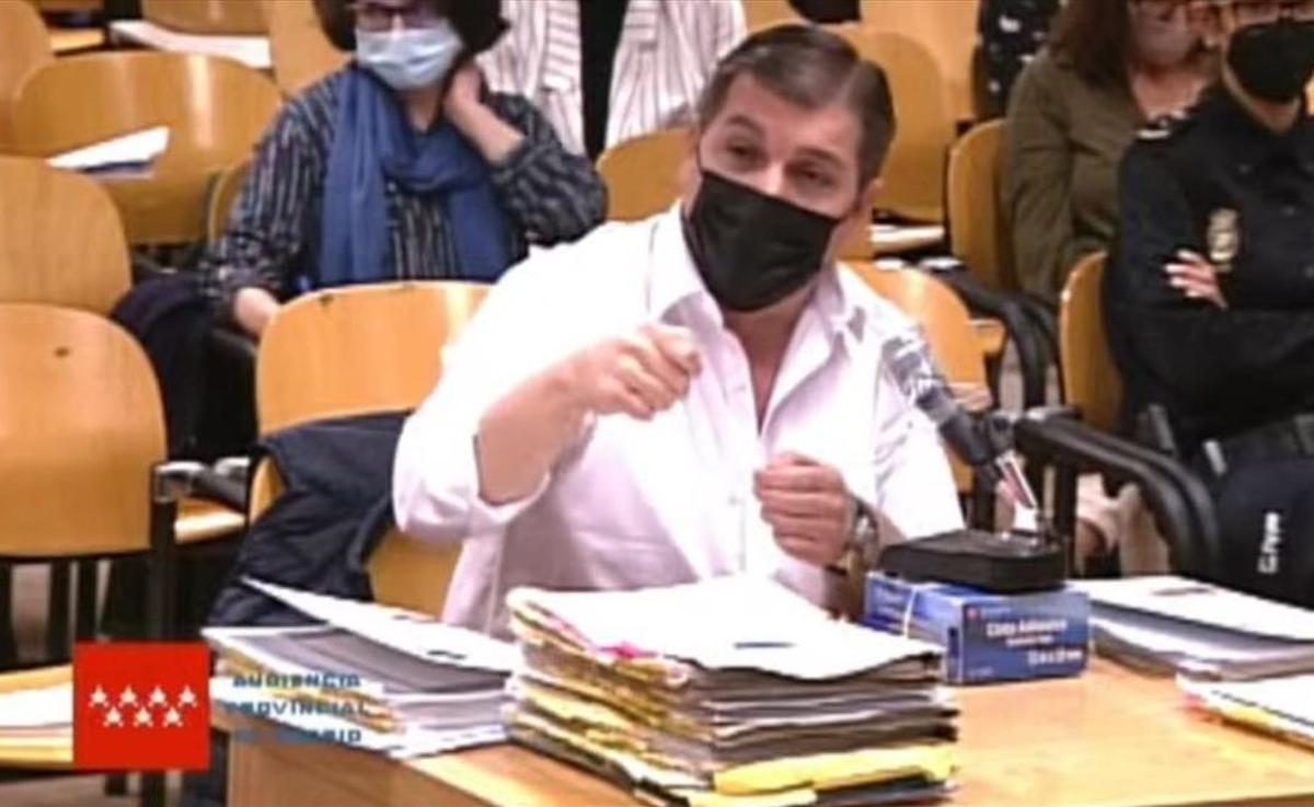 César Román Viruete, 'el Rey del Cachopo', en el juicio en la Audiencia Provincial de Madrid.
