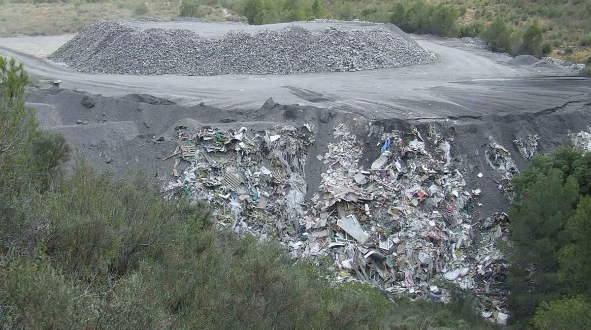 Un vertedero de residuos.