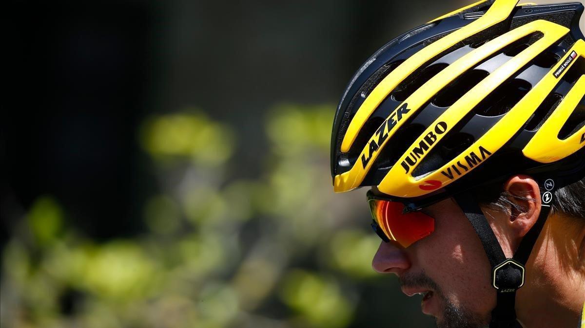 Primoz Roglic, en la etapa de este jueves del Giro