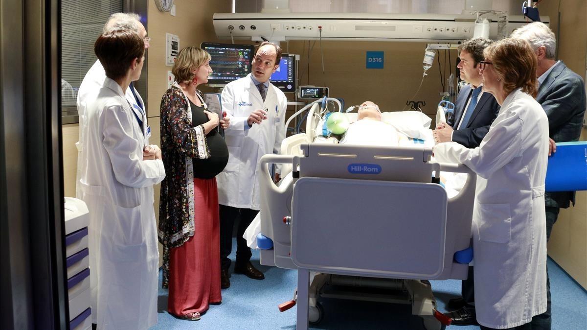La consellera de Salud, Alba Verges, en su visita este miércoles en el Hospital Vall d'Hebron