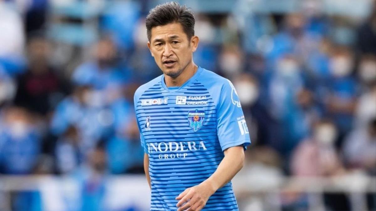 Kazuyoshi Miura, con el Yokohama FC.
