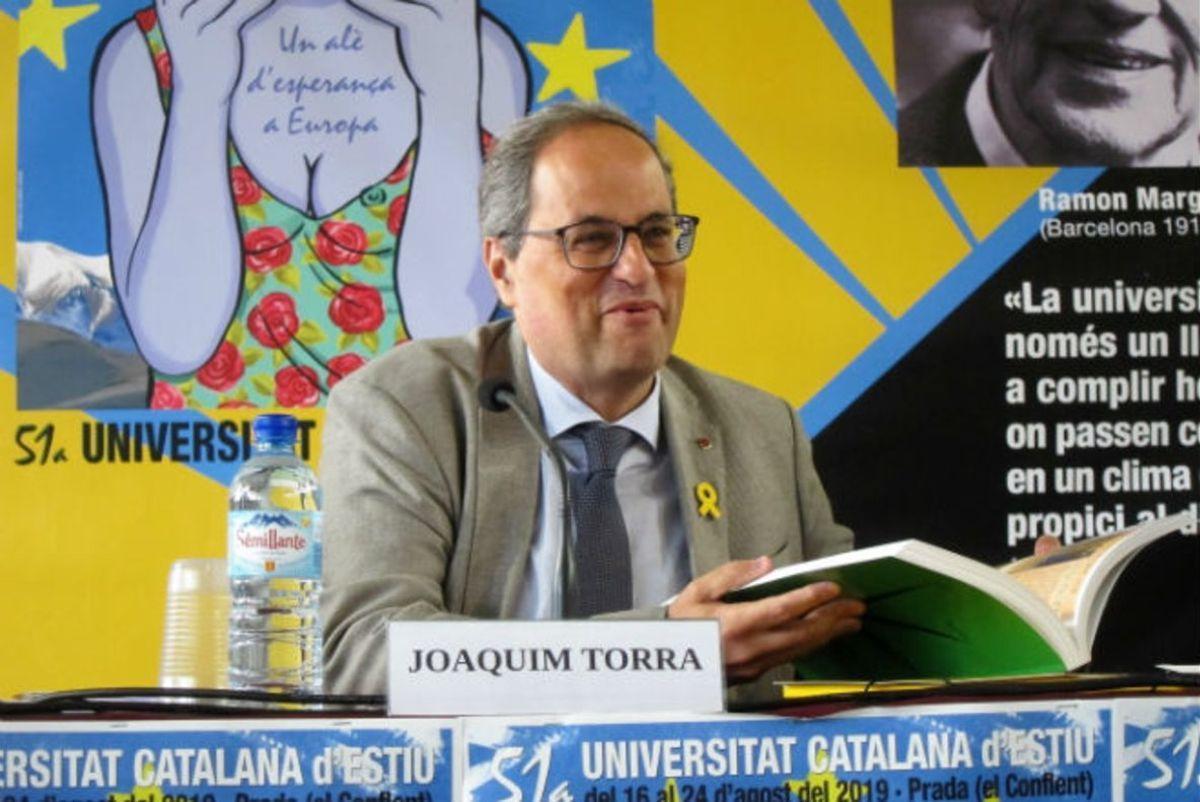 Quim Torra, en la Universitat Catalana d'Estiu.