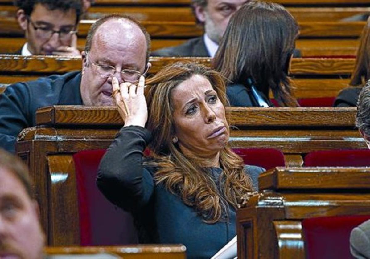 Alicia Sánchez-Camacho, el miércoles, en el Parlament.