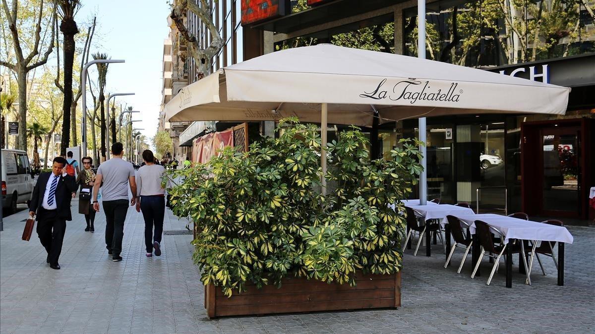 Terraza enBarcelona para disfrutar un clima agradable.