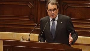 Artur Mas, en su discurso de investidura.