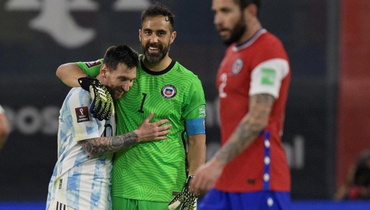 Argentina empató a uno ante Chile porque Claudio Bravo le ahogó el grito de  gol a Messi tres veces
