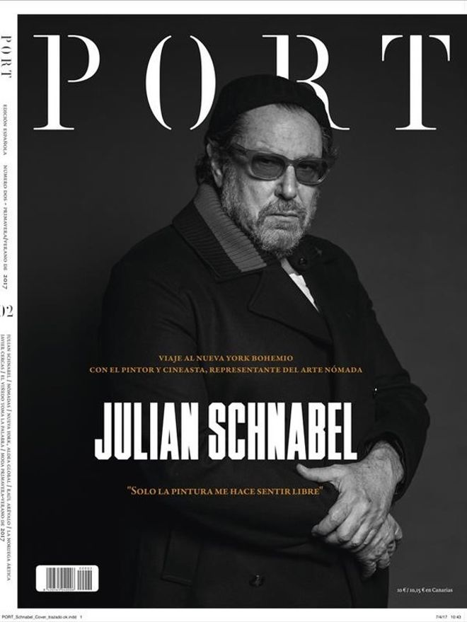 Julian Schnabel, en la portada de 'Port Magazine'