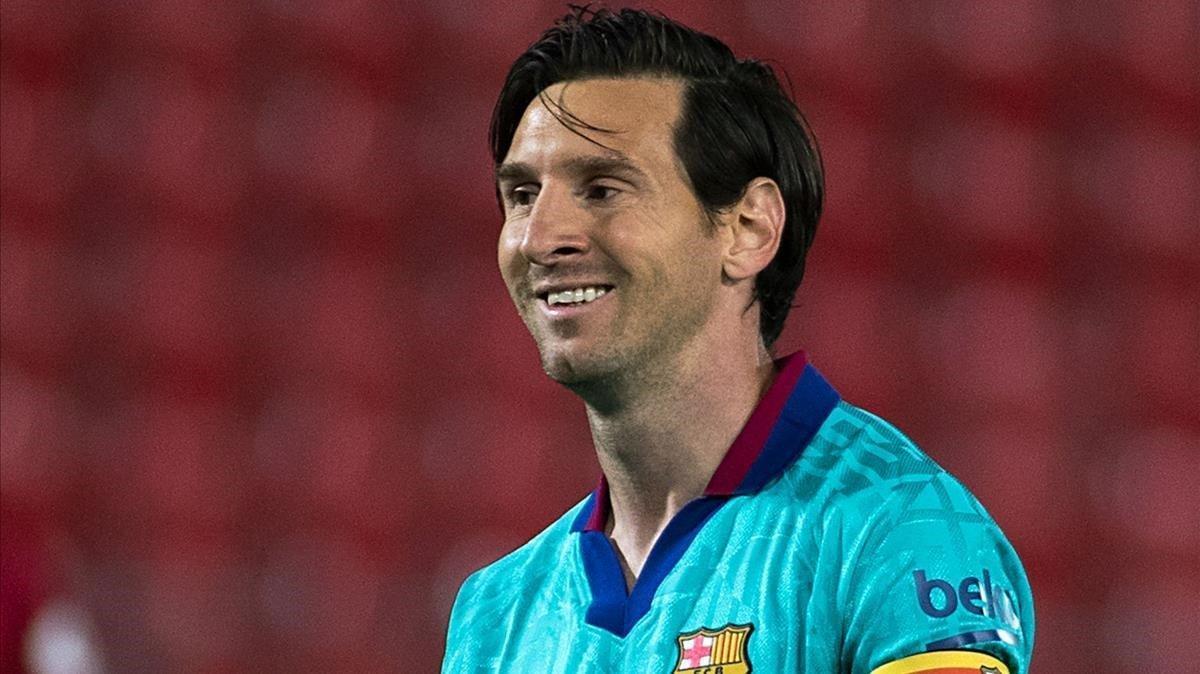 Messi, en el duelo del Barça en Mallorca.