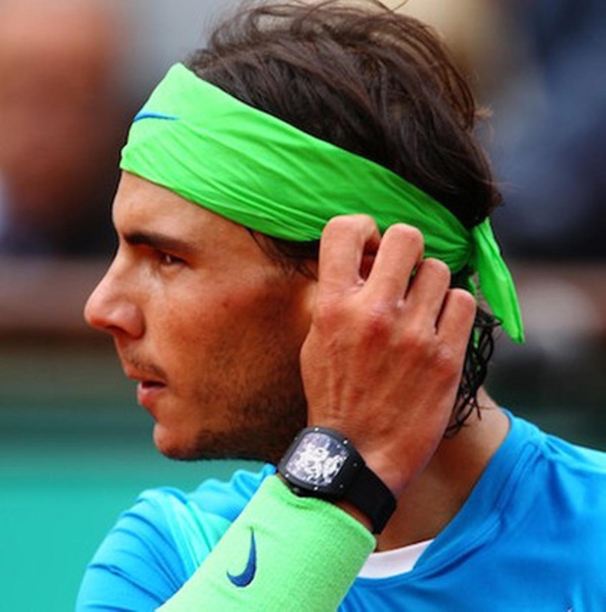 En la imagen, Rafa Nadal el septiembre pasado con el reloj que le fue robado