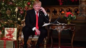 Donald Trump, en su residencia de Mar-a-Lago, en Florida, esta Navidad.
