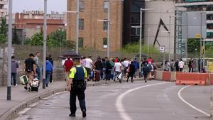 Operatiu de la Guàrdia Urbana contra el mercat ambulant irregular de les Glòries