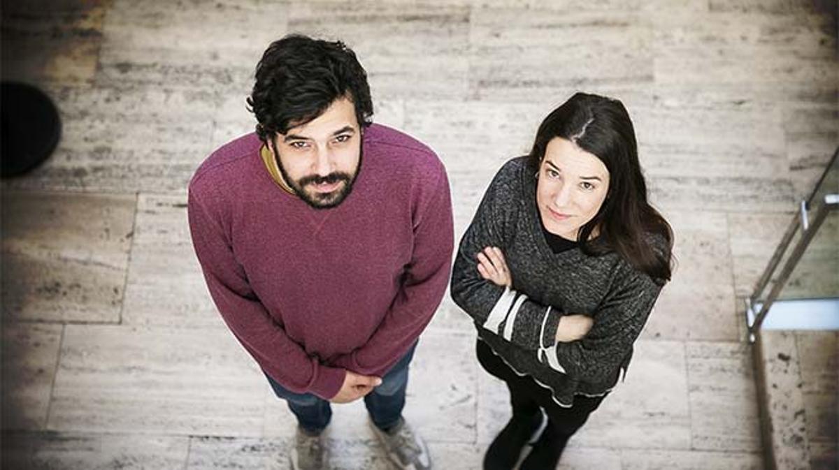 Lara Costafreda y Ruben Wagensberg de la campaña por la emigración 'Casa nostra, casa vostra'