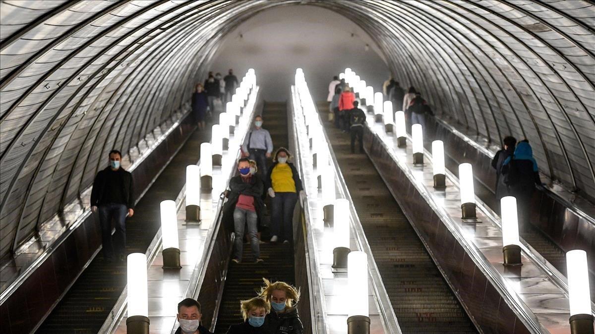 Estación de metro deSavyolovskaya en Moscú