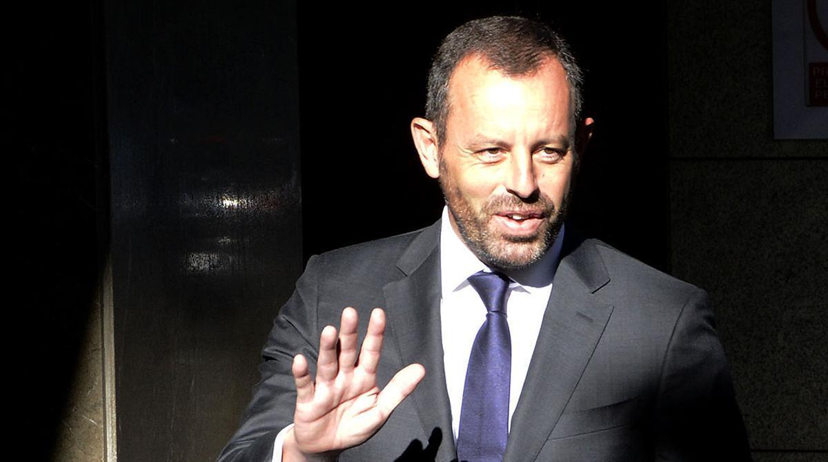 El expresidente del Barça, a su llegada a la Audiencia Nacional para declarar por las presuntas irregularidades del fichaje de Neymar.