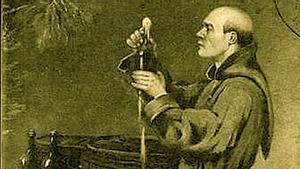 El monje Pierre Pérignon.