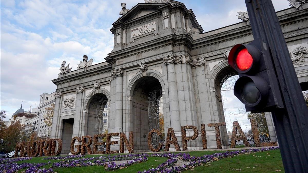 La Puerta de Alcalá de Madrid, en una imagen de diciembre del 2019.