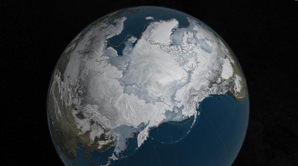 Imagen que muestra el deshielo del Ártico, una de las amenazas más graves que sufre el planeta.
