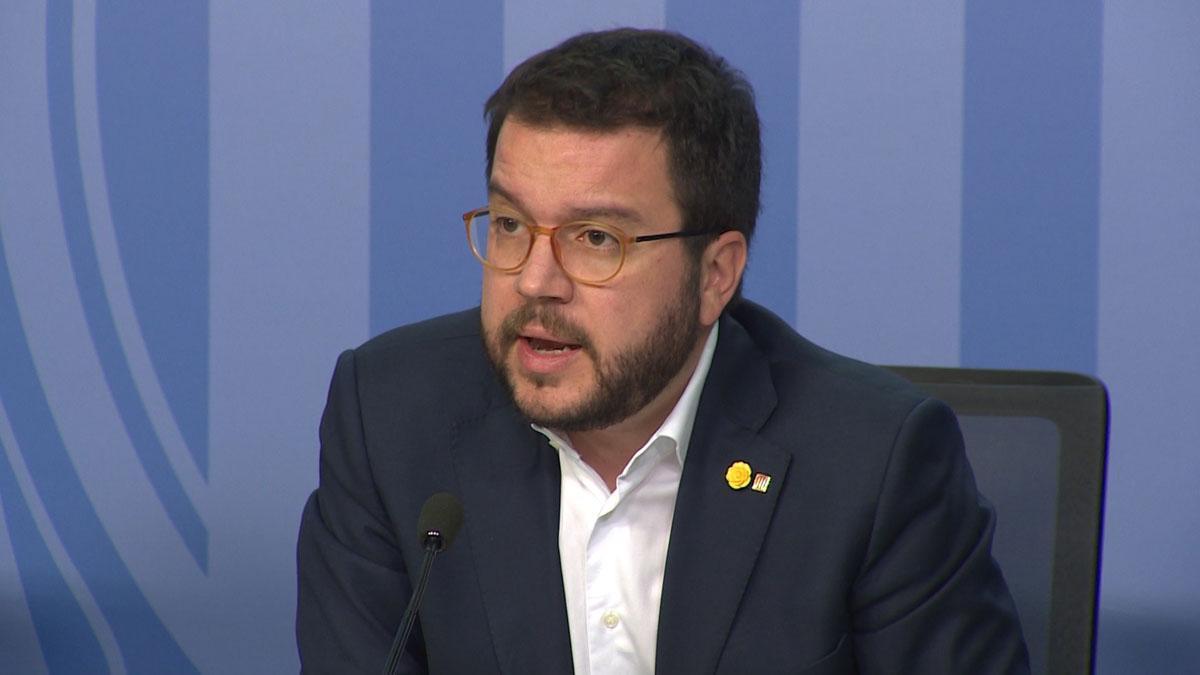 Pere Aragonés ha explicado la propuesta de subir el salario mínimo interprofesional.