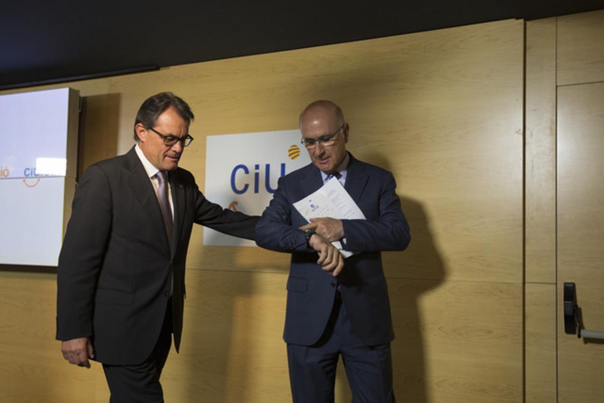 Josep Antoni Duran i Lleida y Artur Mas esta mañana
