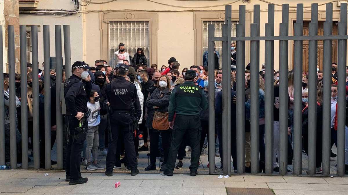 La manifestación de este sábado en Linares.