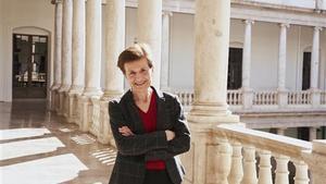 Adela Cortina, en València.