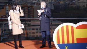 La líder de Cs, Inés Arrimadas, y el candidato naranja al 14-F, Carlos Carrizosa.