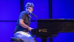Pablo López, durante su actuación del pasado julio en el Festival Pedralbes, en Barcelona.