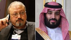 Jamal Khashoggi y Bin Salman.