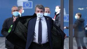El presidente del Parlamento Europeo,David Sassoli, este jueves en Bruselas.