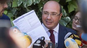 Pedro Antonio Sánchez declara ante el TSJM por la operación 'púnica'.