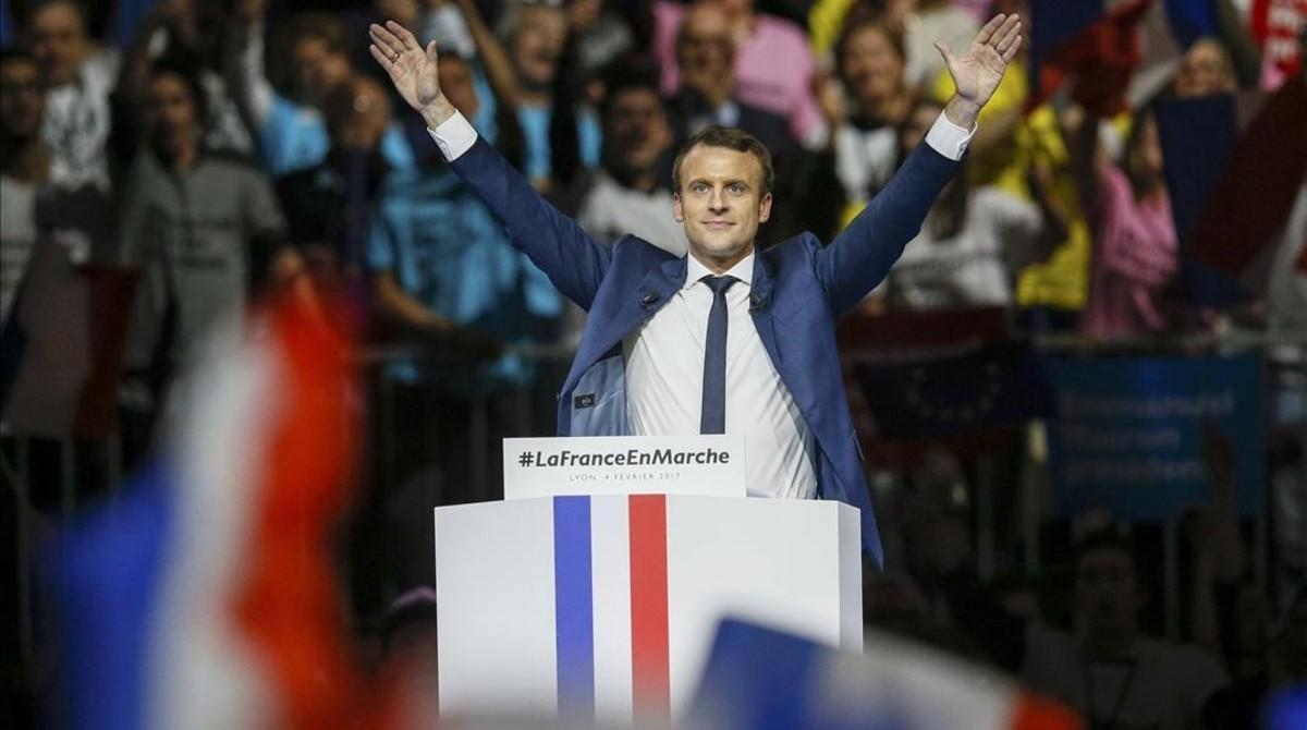 Emmanuel Macron, durante su intervención Lyon,