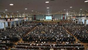 Primera jornada de la asamblea de la Loya Jirga en Kabul, este lunes.
