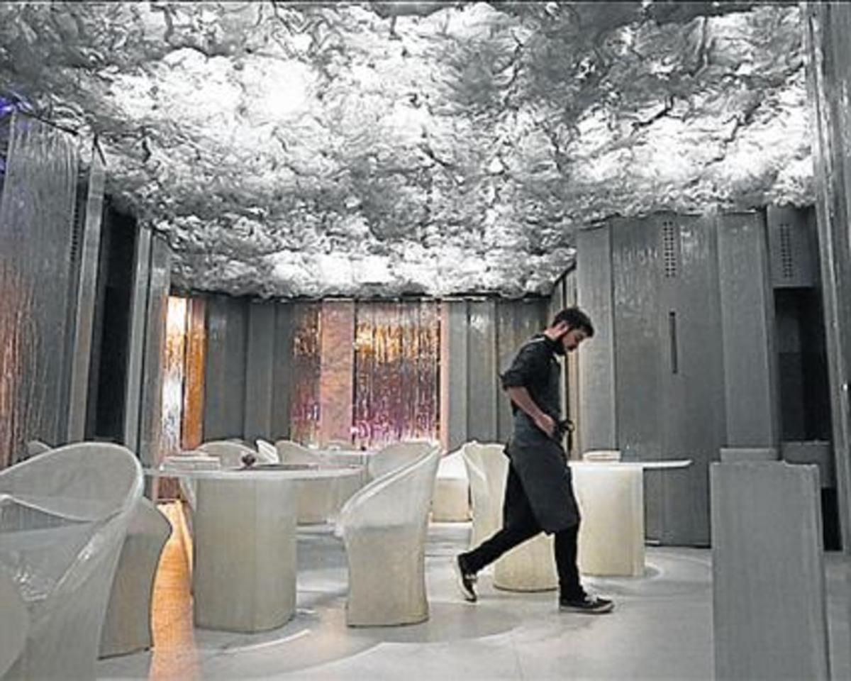 El espacio destinado a comedor.