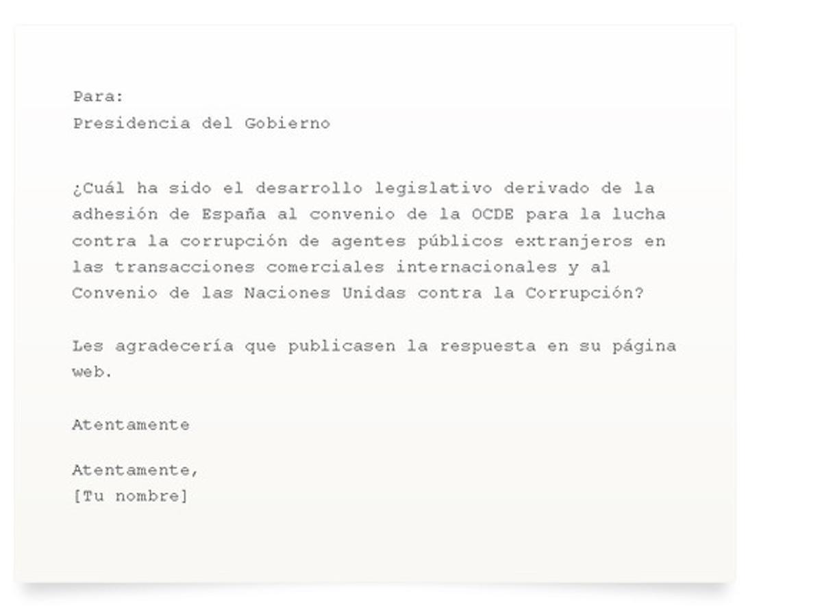 La petición que se enviará al Gobierno