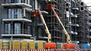 Trabajos de construcción de viviendas en Berlín.