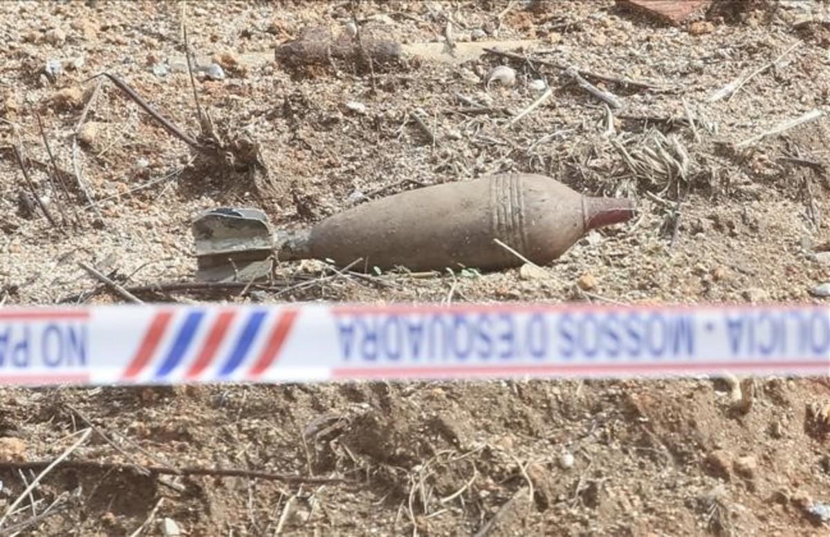 Bomba de la guerra civil localizada en unas obras en Premià de Mar.