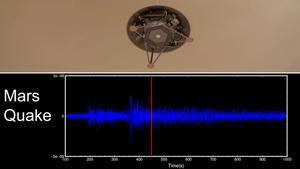 La nave Insight registra un terremoto en Marte.